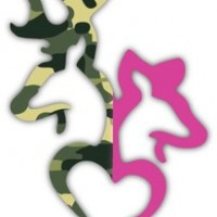 "Camo Buck and Pink Doe Heart Deer Camouflage sticker decal 4"" x 6"":Amazon:Everything Else"