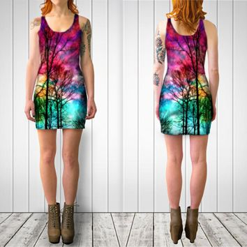 colorful sky by haroulita (Bodycon dress)