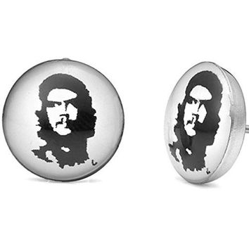 Che Guevara Graphic Stud Earrings for Men