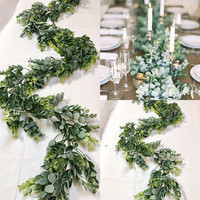 Eucalyptus Garland  Wedding Garland Greenery Garland Woodland Garland Artificial Eucalyptus Garland Eucalyptus Wedding Mixed Greens Garland