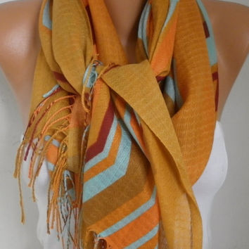 Spring Mustard Cotton Scarf Shawl Summer Cowl Oversize Wrap Gift Ideas For Her Women Fashion Accessories Mother Day Gift Women Scarves