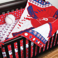 Philadelphia Phillies MLB Micro Fiber Crib Set