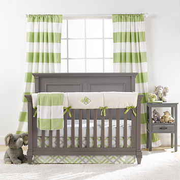 Cabana Stripe Curtains - Kiwi