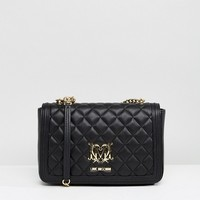 Love Moschino Heart Logo Quilted Bag at asos.com