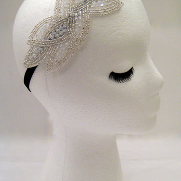 The Cassandra - silver leaves hair piece, bridal leaves hair, goddess headband, nature wedding, silver leaf headband, ancient Greek style