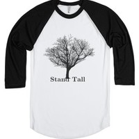 Stand Tall-Unisex White/Black T-Shirt
