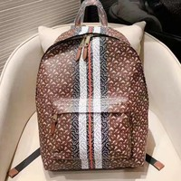 Burberry popular women's backpacks are stylish printed and contrasting shopping backpacks