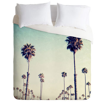 Bree Madden California Palm Trees Duvet Cover