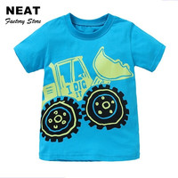 Retail T-shirts for boys Cartoon Baby Boys t Shirt Short Sleeve Embroidery Children Clothing Summer Kids Print shirt S8120 Mix