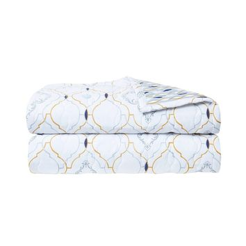 Maiolica Quilted Coverlet by Yves Delorme