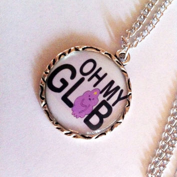 "Adventure Time ""Oh My Glob"" Necklace"