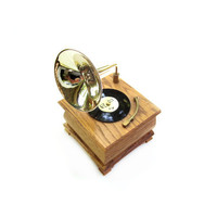 Vintage Gramophone Mechanical Music Box