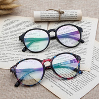 2017 New Optical Glasses Women Spectacle Frame Vintge Round Eyeglasses Anti-fatigue Computer Reading Glasses Men Eyewear Goggles
