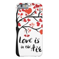 Love is in the air quote iphone case