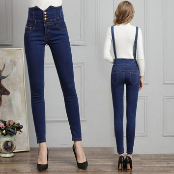 Women Jeans Overalls Boyfriend Jeans for Women Denim Pants Straps Backless Lady Buttons Jeans Woman