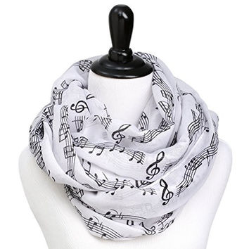 Music Notes Infinity Circle Scarf