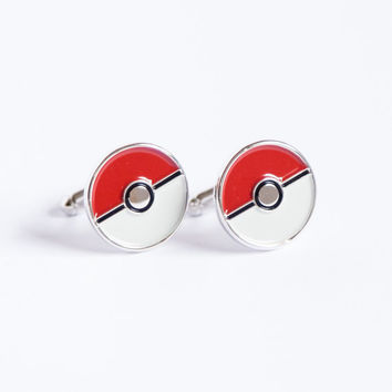 Pokemon Cufflinks - silver plated