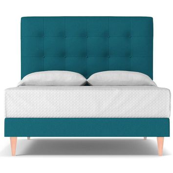 Palmer Upholstered Bed EASTERN KING in BILOXI BLUE - CLEARANCE