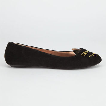 Charles Albert Kitty Womens Flats Black  In Sizes