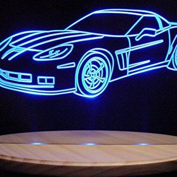"2010 Corvette Grand Sport Acrylic Lighted Edge Lit 13"" LED Sign Light Up Plaque 10 VVD1 Full Size USA Original"