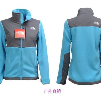 THE North Face New winter women plus velvet jacket to keep warm purple/ BLUE