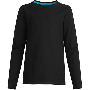 Hanes Girls Long-Sleeve Crewneck T-Shirt