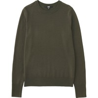 WOMEN EXTRA FINE MERINO CREWNECK SWEATER | UNIQLO