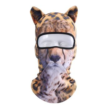 JIUSY 3D Cute Animal Ears Face Mask Windproof Breathable Balaclava for Skiing Cycling Motorcycle Snowboard Skateboard Hiking Fishing Halloween Party BB-G-02