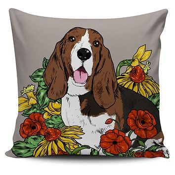 Illustrated Hound Pillow Cover