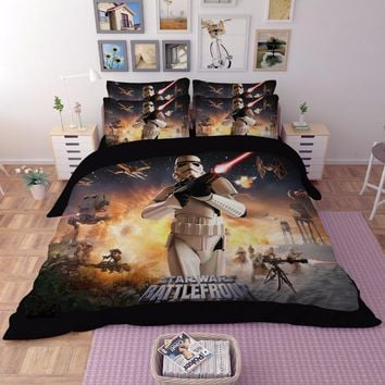 3D Star Wars beddings set single full Queen King size  stormtrooper cotton duvet blanket covert classic movie Phantom pillowcase