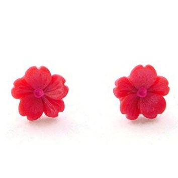 Tiny Pink Sakura Flower Hypoallergenic Earrings