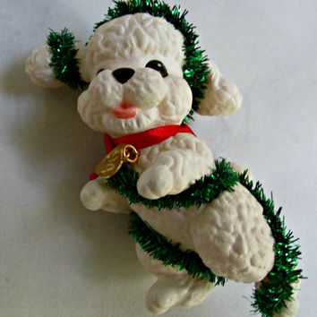 Christmas Ornament 1994 Hallmark Cards Collectible Keepsake Series Four Puppy Love