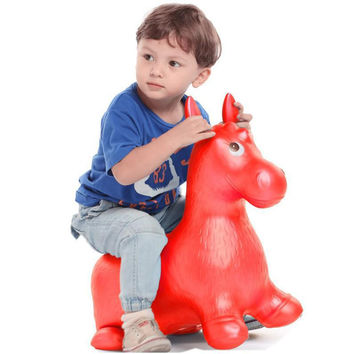 BOHS Rides on Animal Horse  Hopper Toys Inflatable Bouncer Jumping Child Inflatable Extra Thickness Large Rubber Baby 60*52*28cm