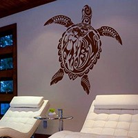 ik477 Wall Decal Sticker Room Decor Wall Art Mural turtle ocean sea openwork aerepaha Animals Marine bedroom bathroom living room