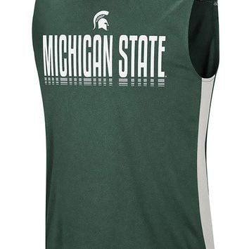 NCAA Michigan State Spartans Hanging Curveball Tank Top