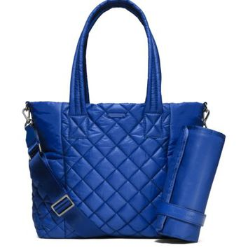 Roberts Large Quilted-Nylon Diaper Bag | Michael Kors