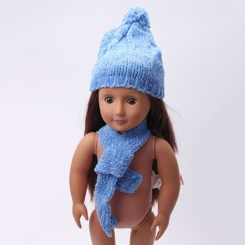 2017 the latest 18-inch American girl dolls hat clothing accessories Baby birthday Christmas gift free shippin TS14