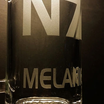 Mass Effect N7 Personalized Mug - Mass Effect N7 Mug - Custom Etched Mass Effect N7 Beer Mug - Mass Effect Mug - Mass Effect Glass