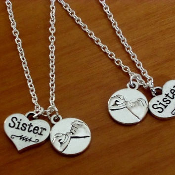 2 Pinky Promise Necklaces, 2 Sisters pinky promise necklaces, 2 Best Friends necklaces, Christmas Gift