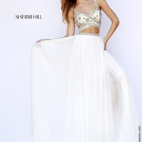 Sherri Hill 11248 Cut Out Chiffon Prom Dress