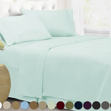 Home Collection Super Soft Double Brushed Microfiber 1800 Series Bed Set (U.S. Seller), Wrinkle Free, Hypoallergenic, Deep Pocke