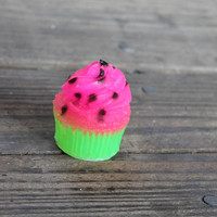 Watermelon Cupcake Soap - Watermelon Birthday Party Favors - Watermelon Decor - Kids Soap - Dessert Soap - Strawberry Soap Favors - Summer