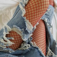 Colored Fishnet Stockings
