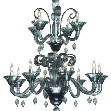 Cyan Design Treviso 12-Light Chandelier | Indigo Smoke
