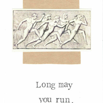 Long May You Run Birthday Card Encouragement Running Runner Marathon Funny Physical Therapy Injury Get Well For Him Dad Men Women