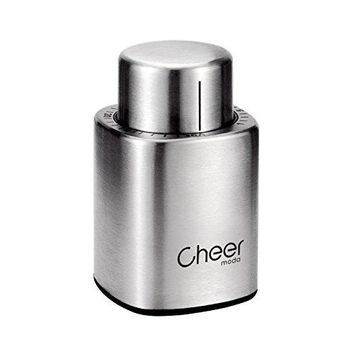 Cheer Wine Vacuum Stoppers Wine Saver Vacuum Pump and Wine Bottle Stopper with Date Marker to Remove Air??????Store in Vacuum for 7 DaysStainless Steel Wine Bottle StopperWine Preservatives