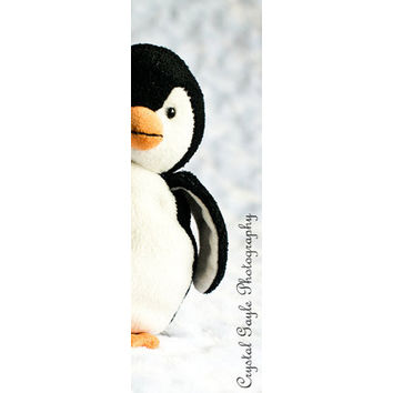 Penguin Stuffed Animal Bookmarks Laminated Kids Easter Gift Under 5