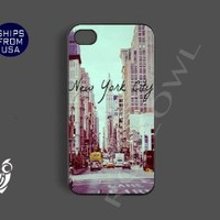 Vintage New York City Retro Design Unique Iphone 4 Case, Iphone 4s Covers - C...