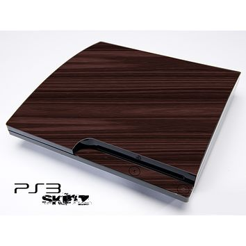 Slanted Wood Grain Skin for the Playstation 3