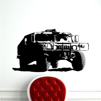 Hummer Wall Vinyl Decal Car Army Heavy Weapon Vehicle Boy Custom Military Sticker Humvee War Poster Home Kids Nursery Mural Art Deco Made in US